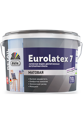 Водно-дисперсионная краска düfa Retail EUROLATEX 7 10 л