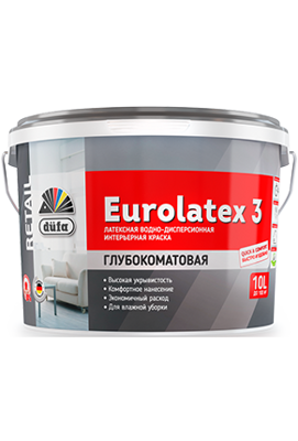 Водно-дисперсионная краска düfa Retail EUROLATEX 3 10 л